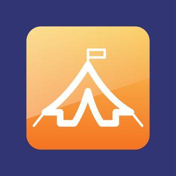 Tourism tent vector icon