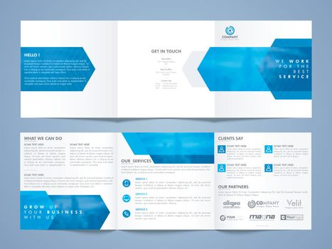 Three Fold Business Brochure Set.