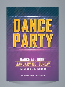 Dance Party Flyer, Banner, Invitation.