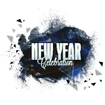 Holiday celebration background with abstract splash and brush strokes. Can be used as poster, banner or flyer design for New Year celebration.