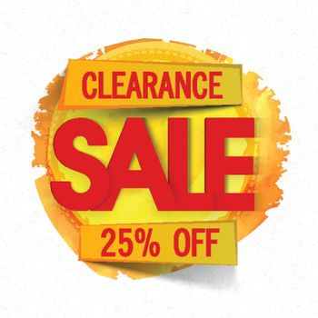 Clearance Sale Sticker or Label.