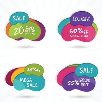 Set of Stickers or Labels.