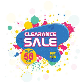 Clearance Sale Poster or Banner.