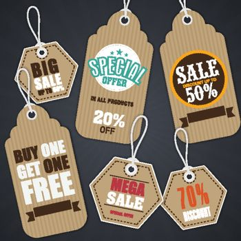Set of Sale Tags or Labels.