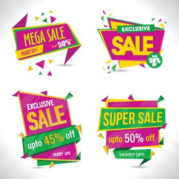 Sale Paper Tags or Banners.