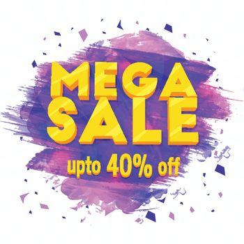 Mega Sale Poster or Banner.