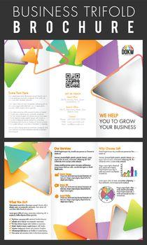 Business Three Fold Brochure layout.
