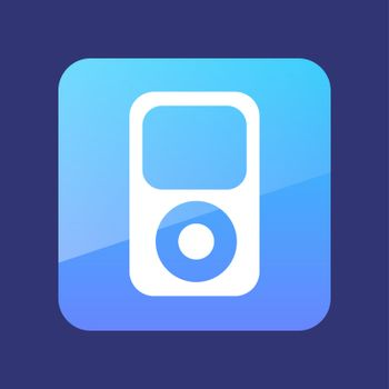 Portable media player flat icon