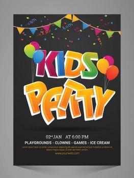 Kids Party Flyer, Banner, Invitation or Pamphlet.