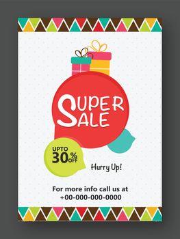 Super Sale Flyer, Banner, Pamphlet or Poster.