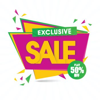 Exclusive Sale Paper Tag or Banner.