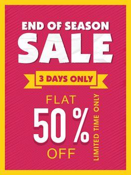 End of Season Sale Flyer or Banner.