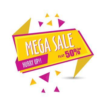 Mega Sale Paper Tag.