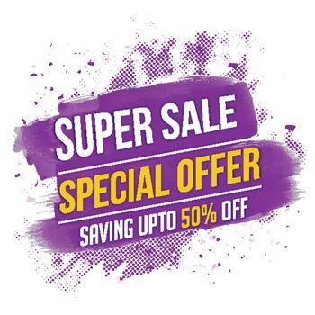 Super Sale Poster or Banner.