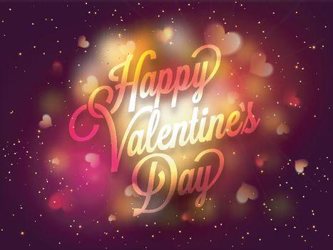 Valentine's Day Typographical Background.