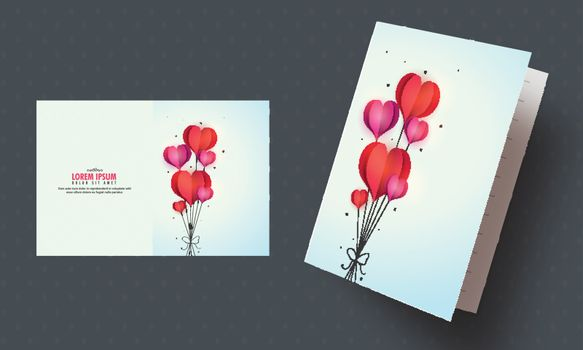 Creative hearts decorated, Greeting Card or Invitation Card design for Valentine's Day celebration.