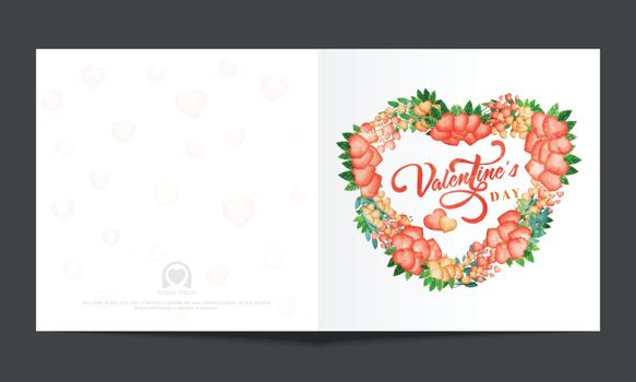 Greeting card design with creative Hearts for Happy Valentine's Day Celebration.