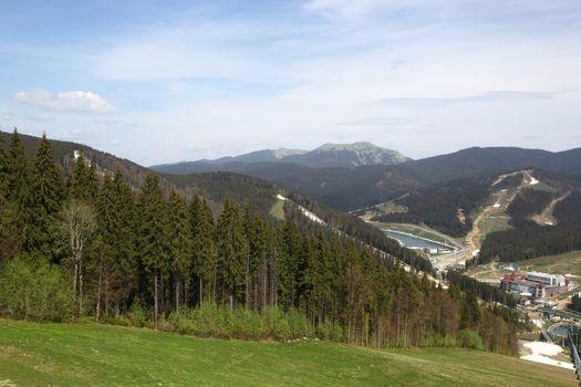 Bukovel resort. Ukraine. Carpathians