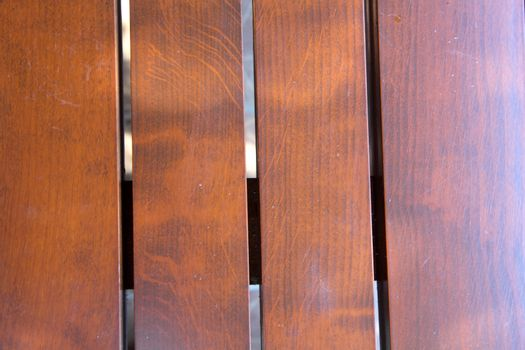 In the photo background of lacquered boards