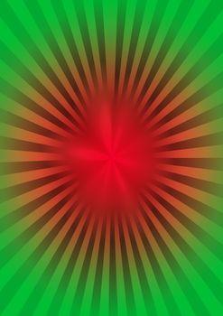 Abstract star burst retro background. 3D illustration.