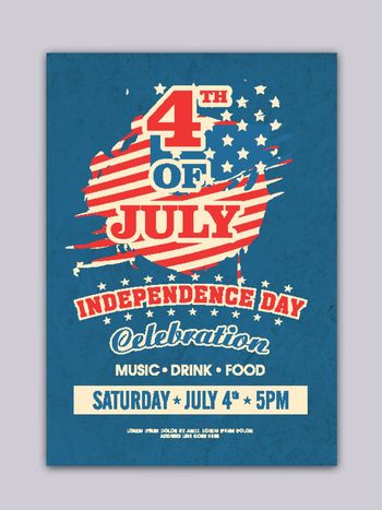 4th of July, Independence Day celebrations Flyer Design.