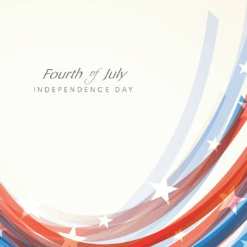 Creative abstract background in American Flag colors for Fourth of July, Independence Day celebration.