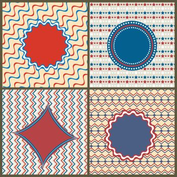 Set of four creative abstract patterns or textures with space for your text.
