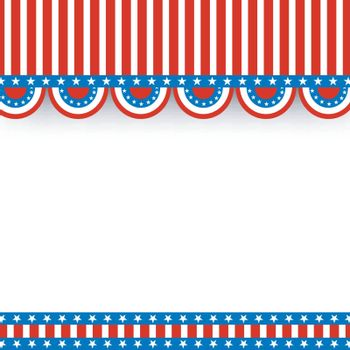 American Flag colors background with space for text, 4th of July Independence Day celebration concept.
