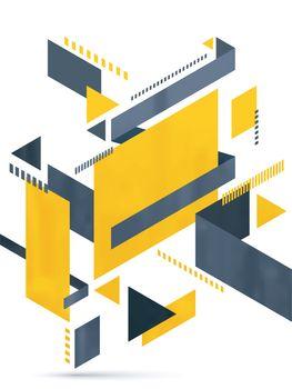 Creative modern abstract geometrical background.