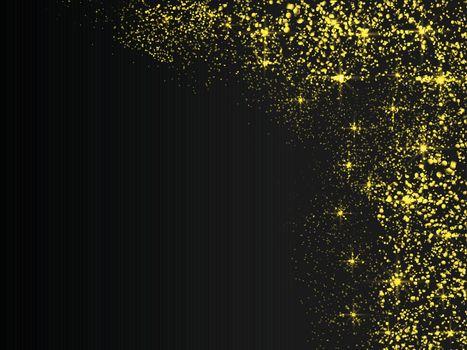 Gold glitter texture background. Elegant golden confetti explosion.