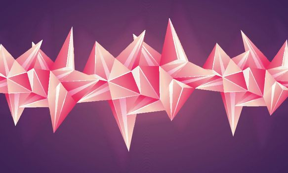 Creative abstract background with glossy low poly shapes.