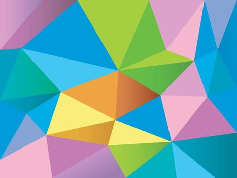 Abstract polygonal background. Creative geometric texture with colorful triangles or low poly shapes.