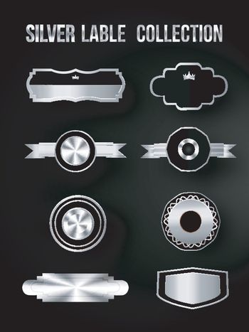 Set of Silver Shields and Badges.