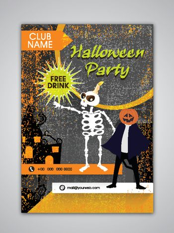 Halloween Party Template, Banner, Flyer or Invitation Card design.