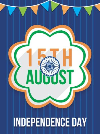 Creative Template, Banner or Flyer design for 15th of August, Indian Independence Day celebration.