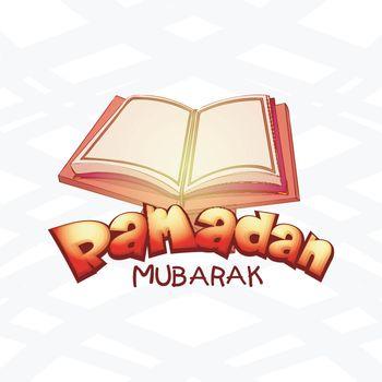 Ramadan Mubarak with Holy Quran.