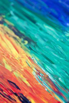 Modern rainbow artwork background.