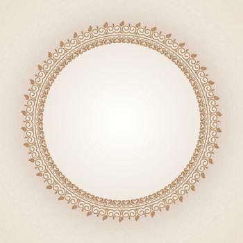 Elegant circular frame.
