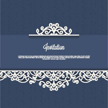 Vintage invitation design card.