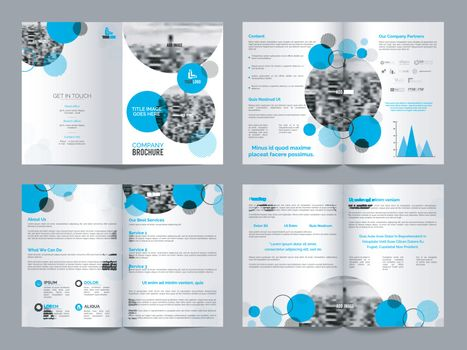 Professional Business Brochure Set with Front, Inner or Back Pages Presentation and Infographic Element.