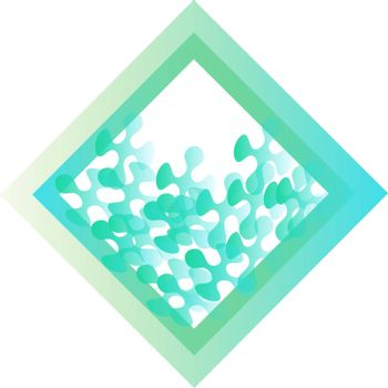 Light blue rhombus icon with mosaic or puzzle pieces inside it
