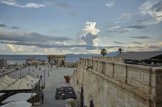 The seafront of Cagliari