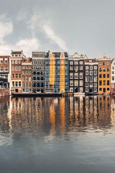 Dancing houses of Amsterdam