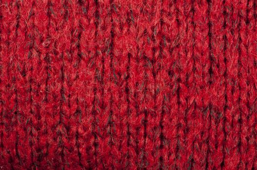 Handmade knit red background