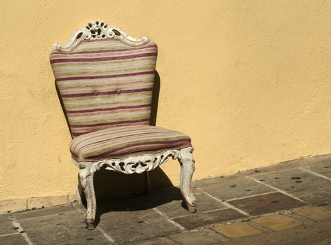 Old chair in baroque style