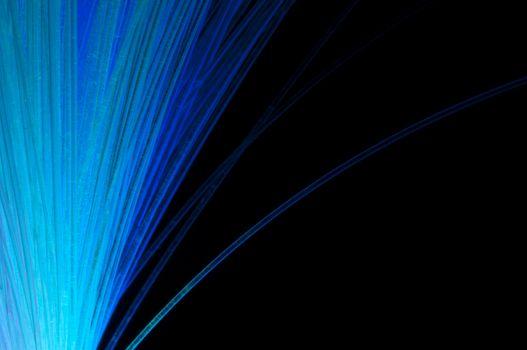 Blue colors optical fibers