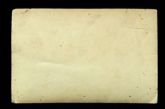 old paper sheet black isolated