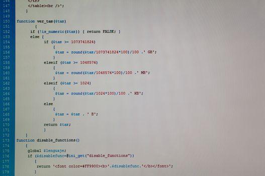 Php code web programming