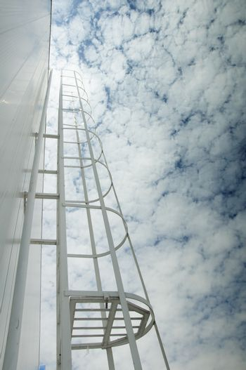 Ladder to the sky. Concept of success