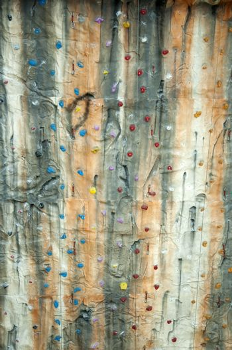 Climbing artificial wall. Verical image